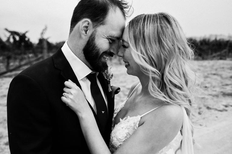 bride and groom married at dryridge estate