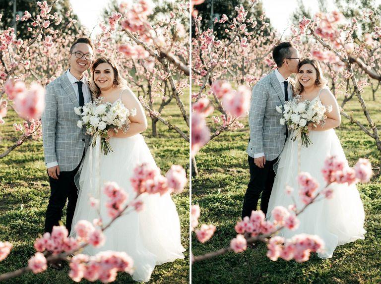 bride and groom pialligo estate wedding portrait