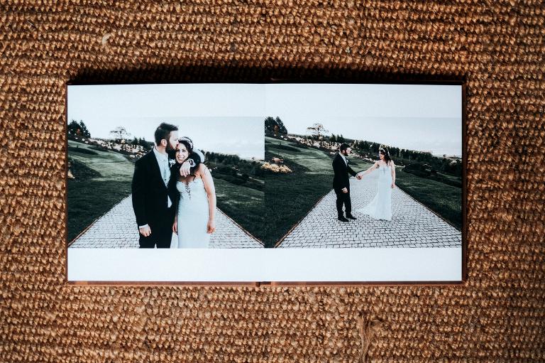 wedding album spread example